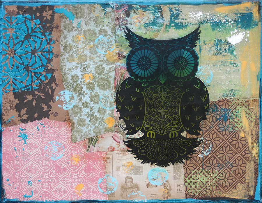 Owl Of Style Mixed Media