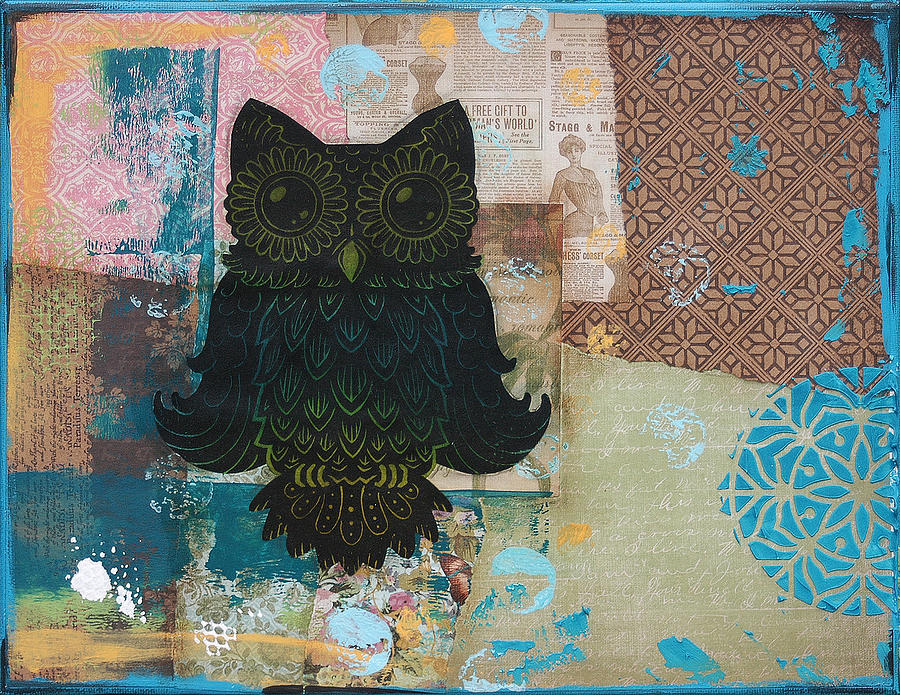 Owl Of Wisdom Mixed Media