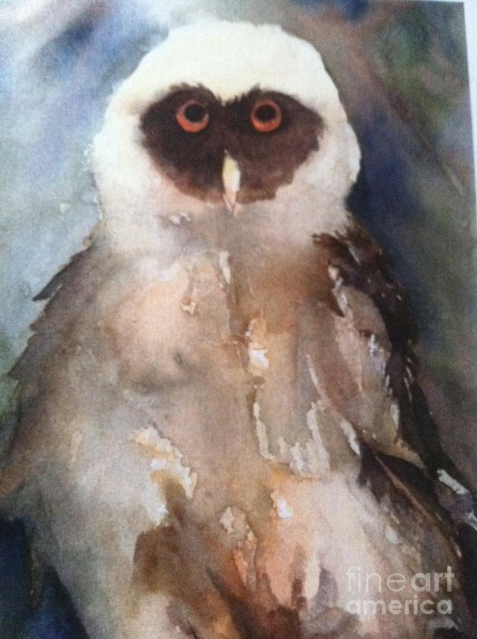 Owl Painting - Owl by Sherry Harradence