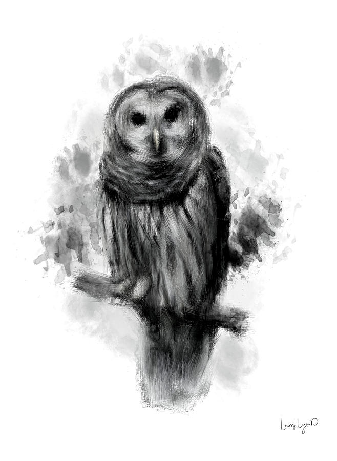 Owls Portrait Digital Art