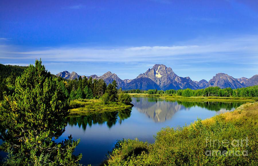 Grand Teton Photograph - Oxbow Bend by Robert Bales