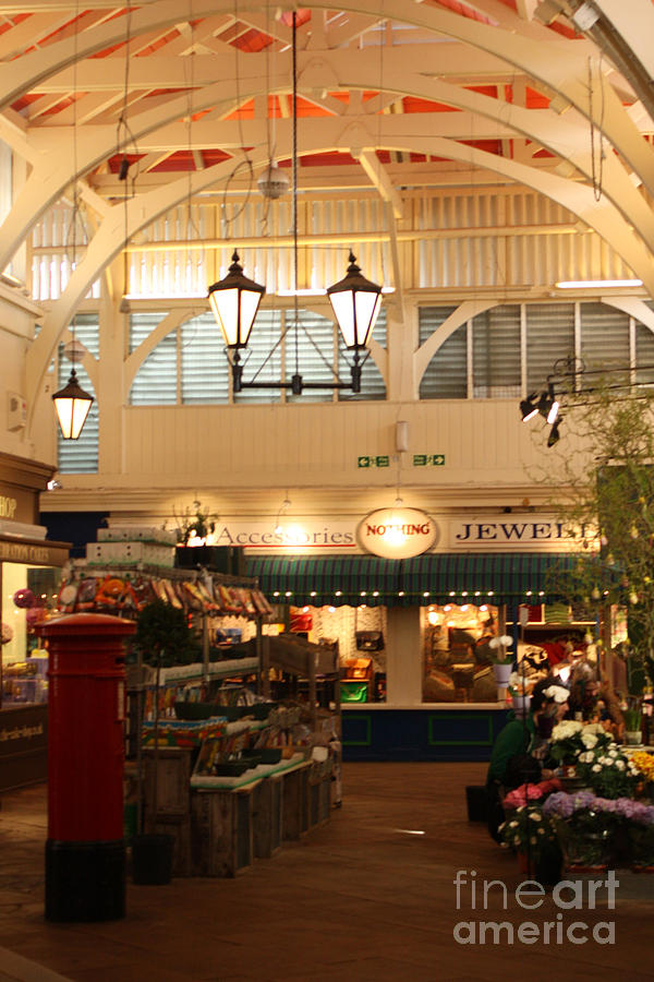 Oxford Photograph - Oxfords Covered Market by Terri Waters