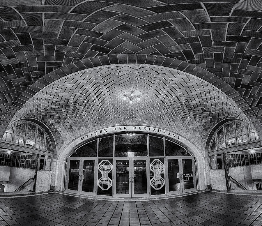 Empire State Photograph - Oyster Bar Bw by Susan Candelario