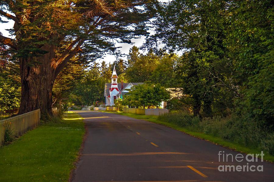 Church Photograph - Oysterville Church Framed by Robert Bales