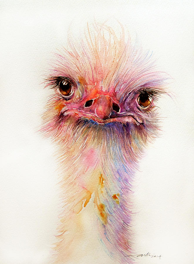 Ozzy The Ostrich Painting By Arti Chauhan