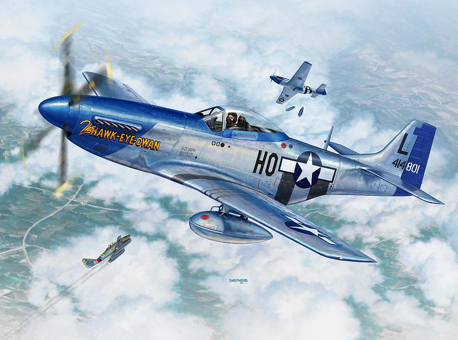 P 51 Red Tails P-51d Mustang The Hawk...