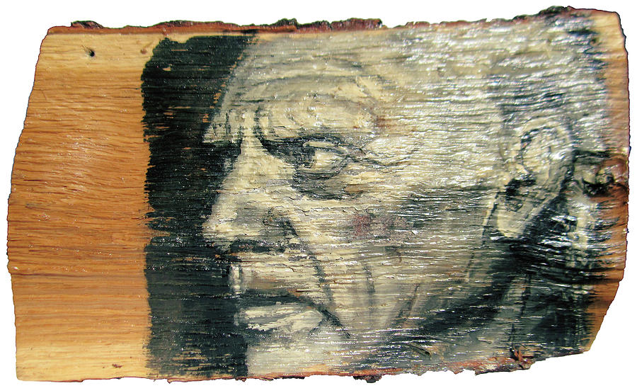 Pablo Picasso Face Portrait - Painting On The Wood Painting  - Pablo Picasso Face Portrait - Painting On The Wood Fine Art Print