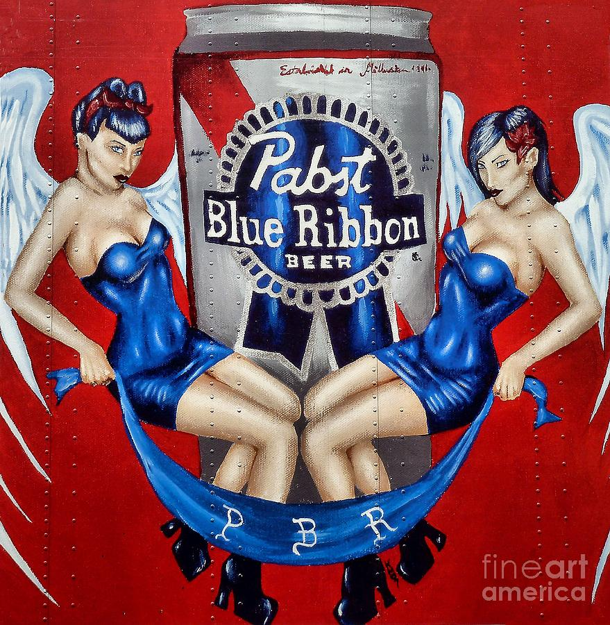 Pabst Blue Ribbon Beer Photograph