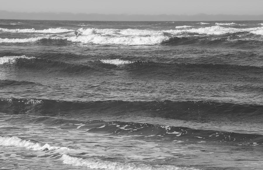 Pacific Ocean Black And White Photograph by Tikvah's Hope