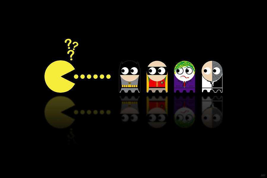 Pacman Batman Digital Art