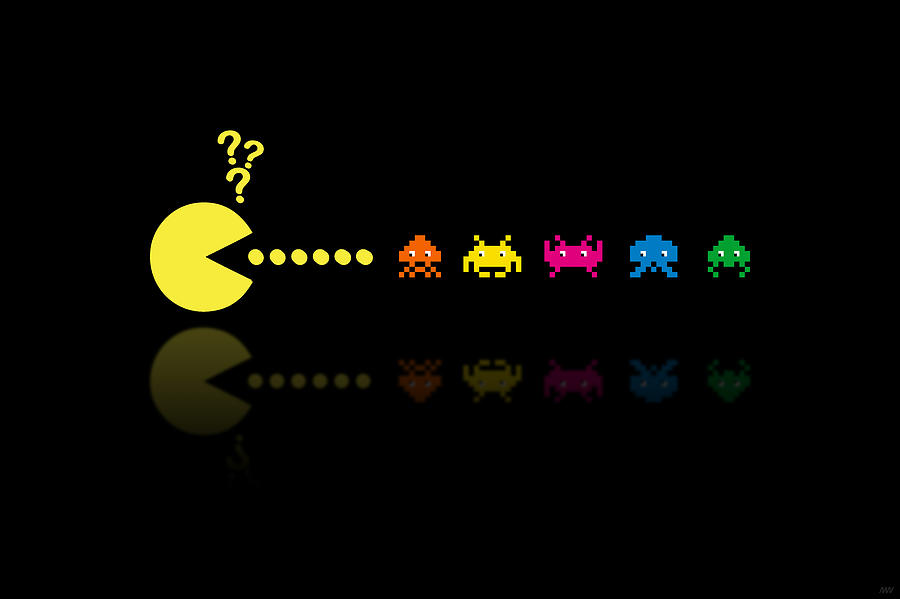 Pacman Invaders Digital Art  - Pacman Invaders Fine Art Print