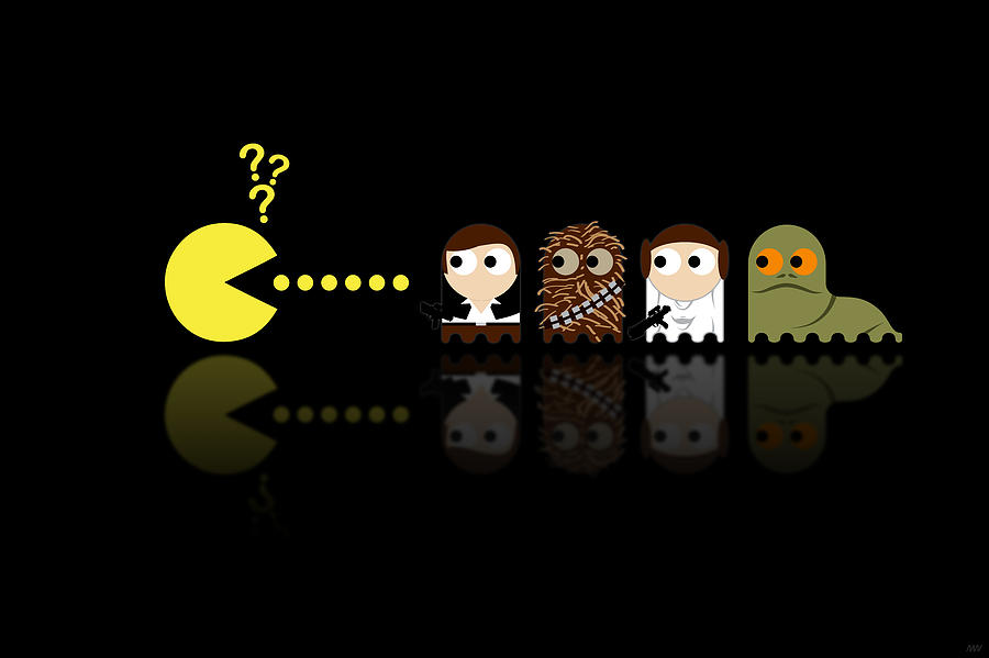 Pacman Star Wars - 4 Digital Art  - Pacman Star Wars - 4 Fine Art Print