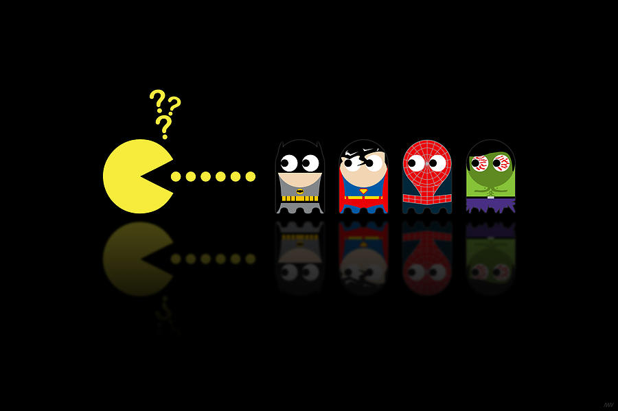 Pacman Superheroes Digital Art