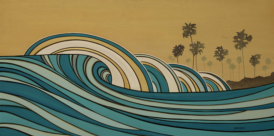 Laguna Beach Mixed Media - Paddle Out by Joe Vickers
