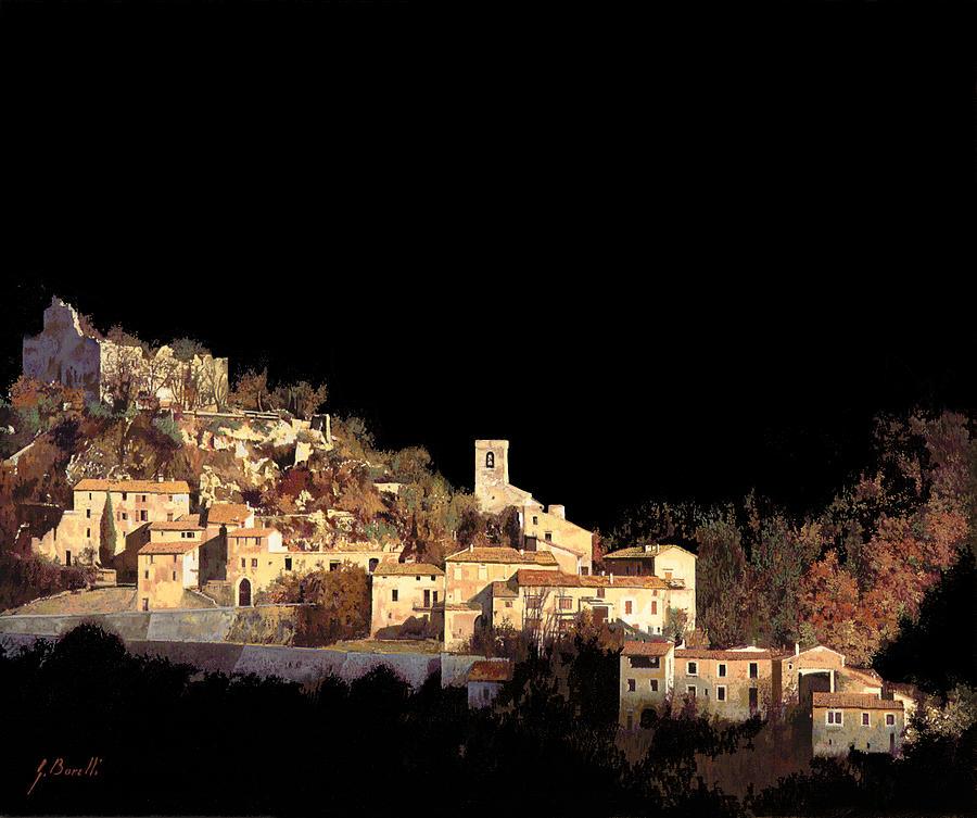 Landscape Painting - Paesaggio Scuro by Guido Borelli
