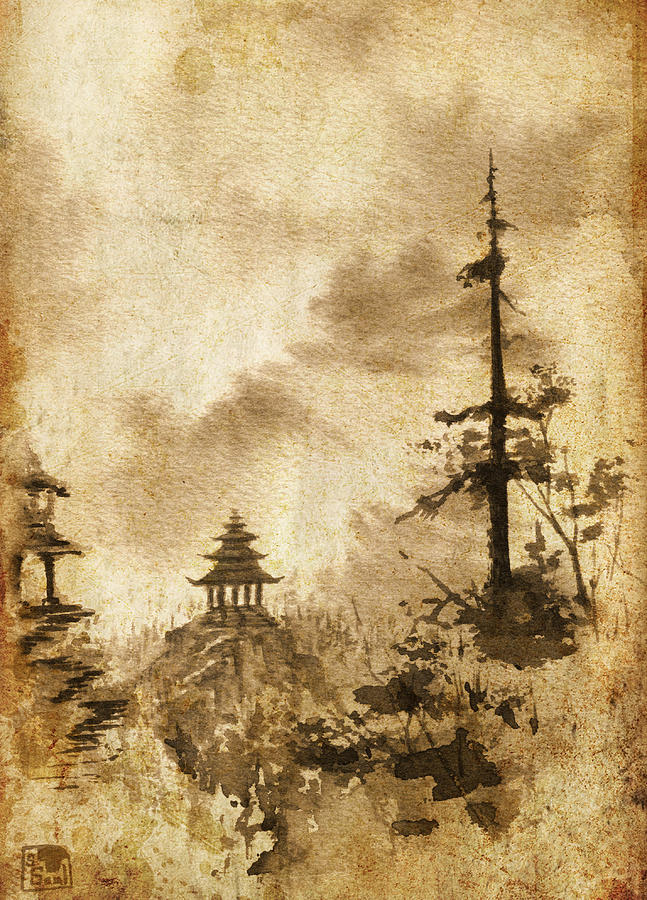 Pagoda Painting - Pagoda Valley Altered by Sean Seal