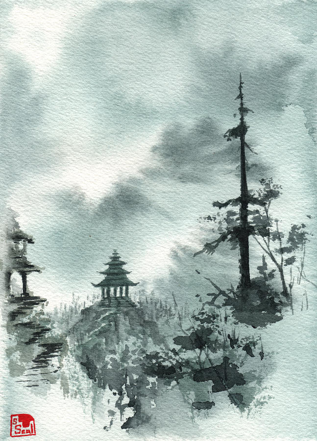 Pagoda Valley Painting  - Pagoda Valley Fine Art Print