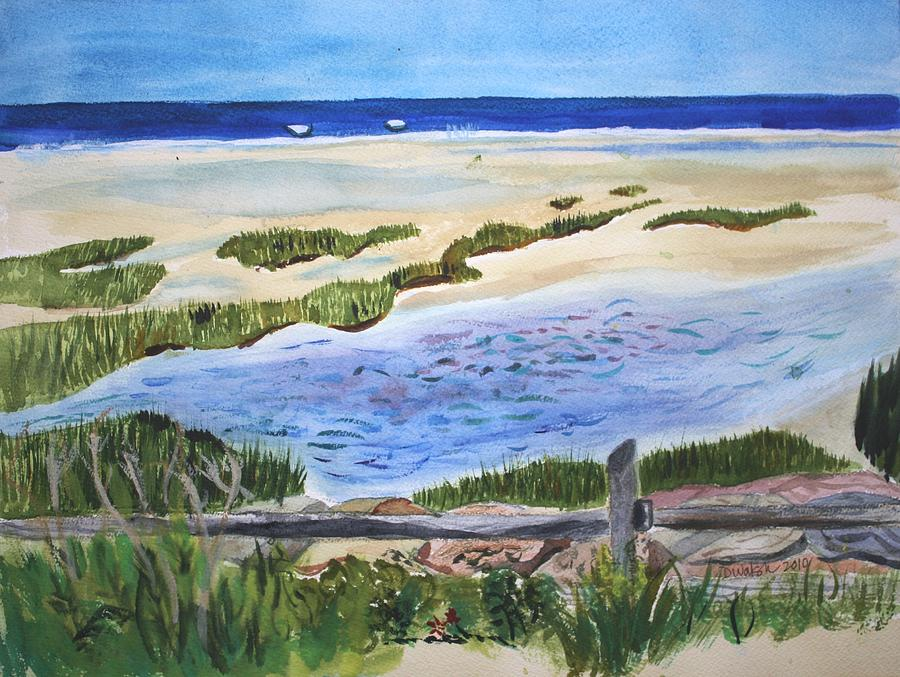Paines Creeek Is A Wonderful Beach On Cape Cod Bay In The Town Of Brewster Ma. Painting  - Paines Creeek Is A Wonderful Beach On Cape Cod Bay In The Town Of Brewster Ma. Fine Art Print