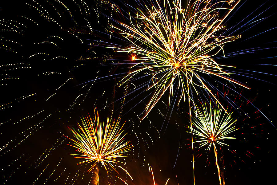Paint The Sky With Fireworks  Photograph  - Paint The Sky With Fireworks  Fine Art Print