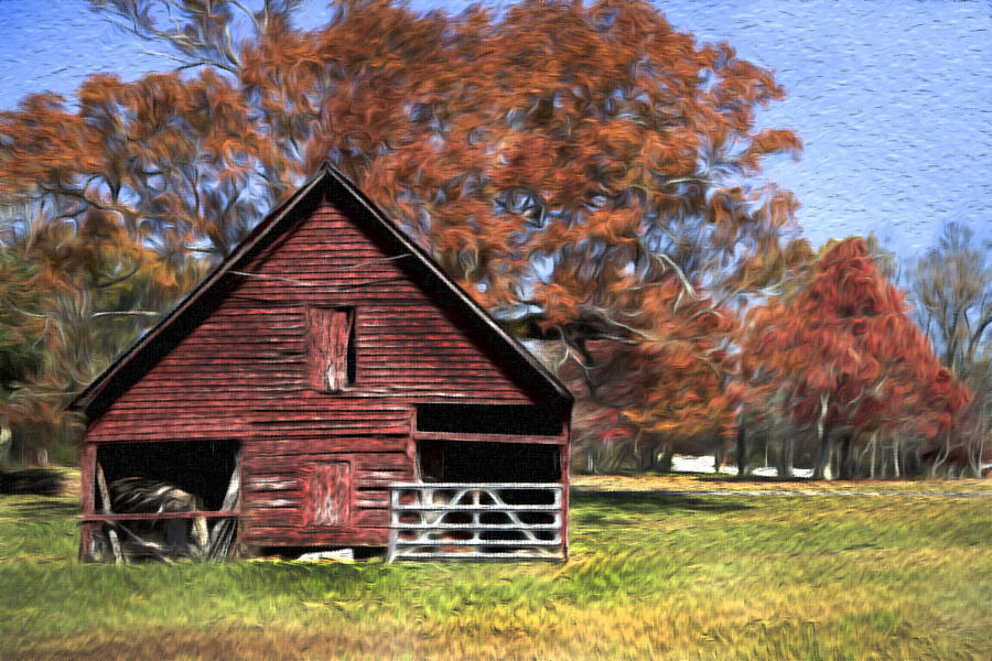 Painted Barn 2 Digital Art  - Painted Barn 2 Fine Art Print