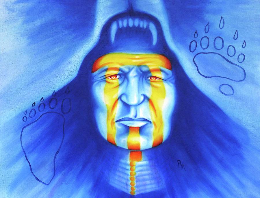 Native American Art Painting - Painted Bear by Robert Martinez