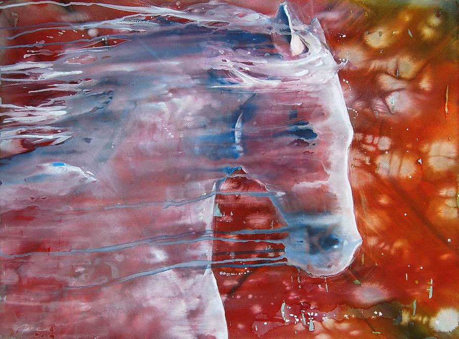 Horse Art Painting - Painted By The Wind by Jani Freimann