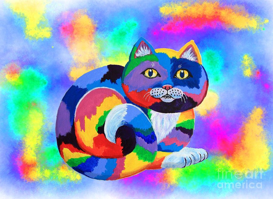 Painted Cat Painting