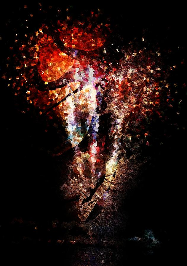 Painted Fireworks Digital Art  - Painted Fireworks Fine Art Print