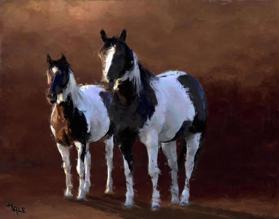 Painted Ponies Digital Art  - Painted Ponies Fine Art Print