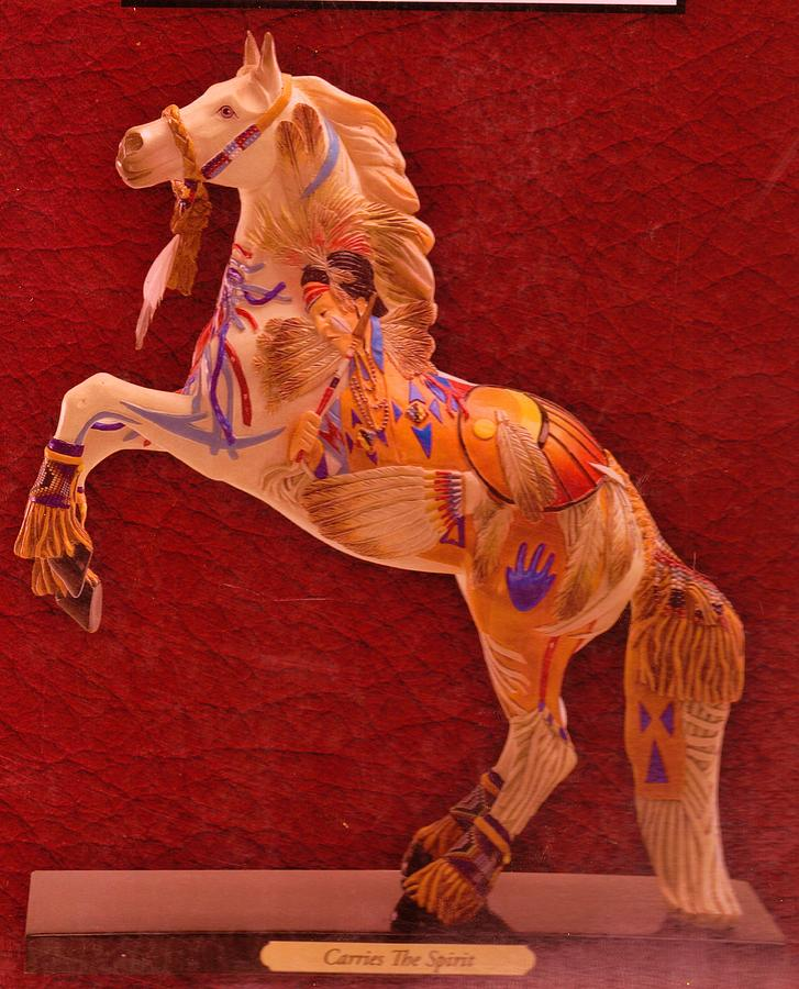 Painted Pony Mixed Media - Painted Pony From My Collection by Anne-Elizabeth Whiteway