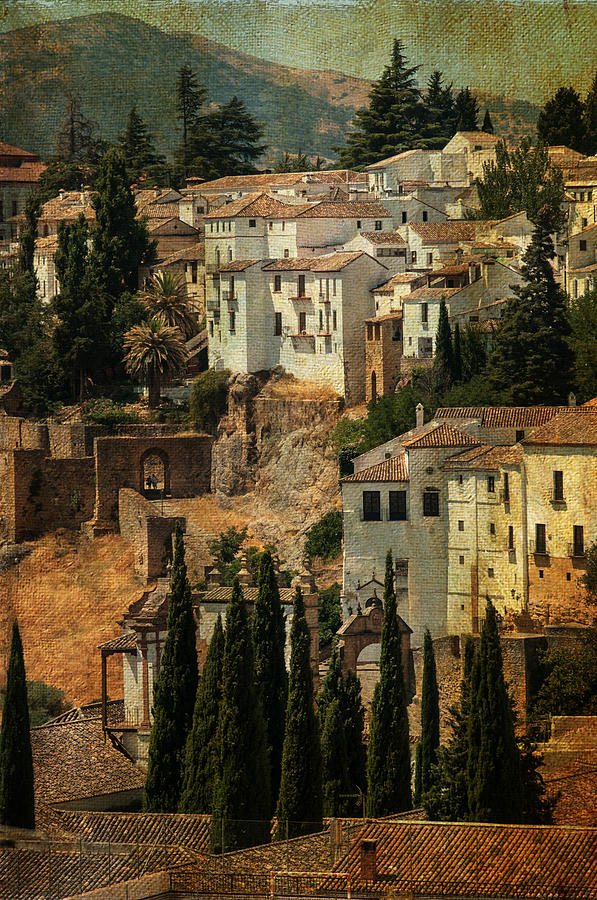 Painted Ronda. Spain Photograph  - Painted Ronda. Spain Fine Art Print