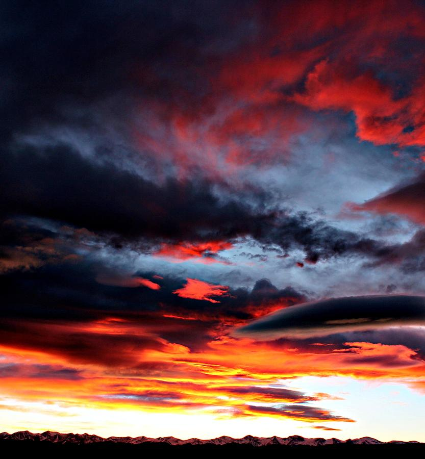 Painted Sky Sunset Photograph