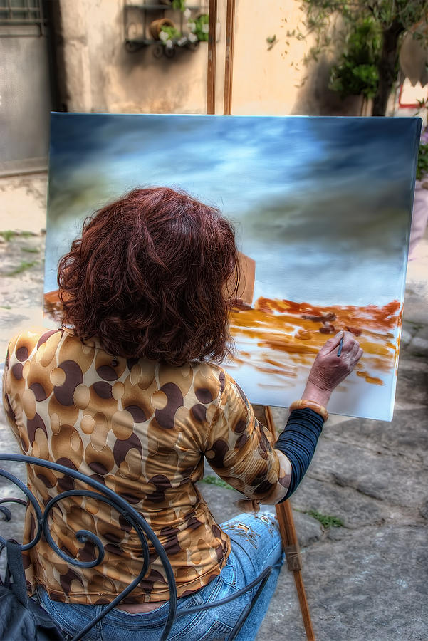 Painter To The Canvas Photograph - Painter To The Canvas by Leonardo Marangi