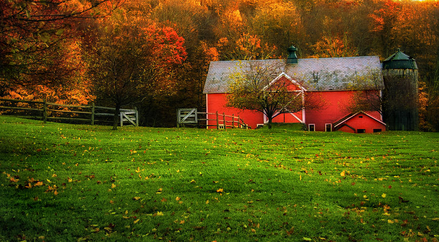 Painterly Autumn Scenic - Dorset Vermont Photograph