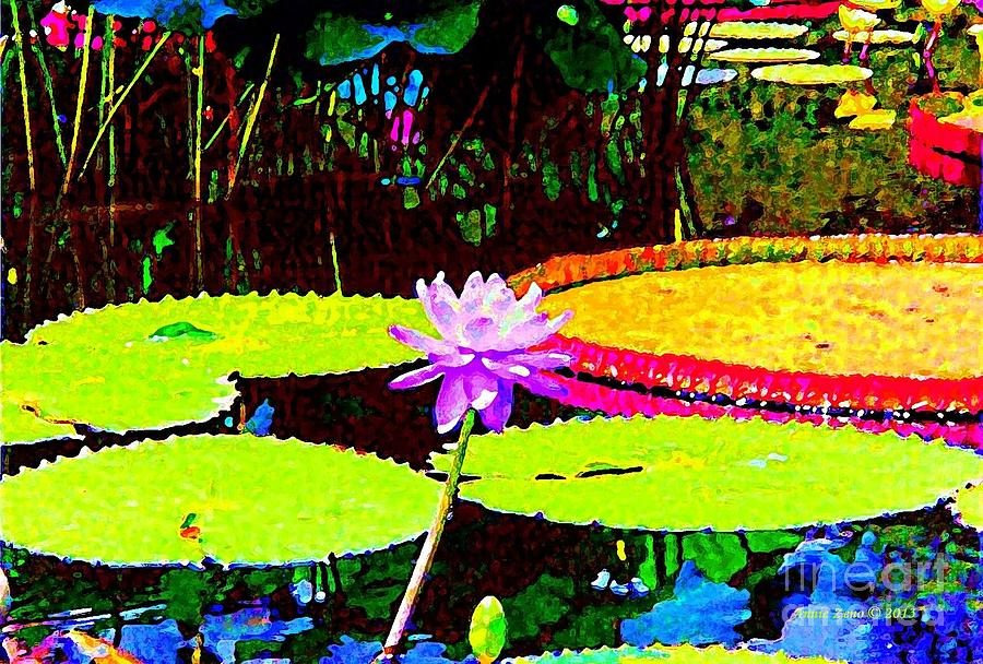 Painterly Water Lily Photograph