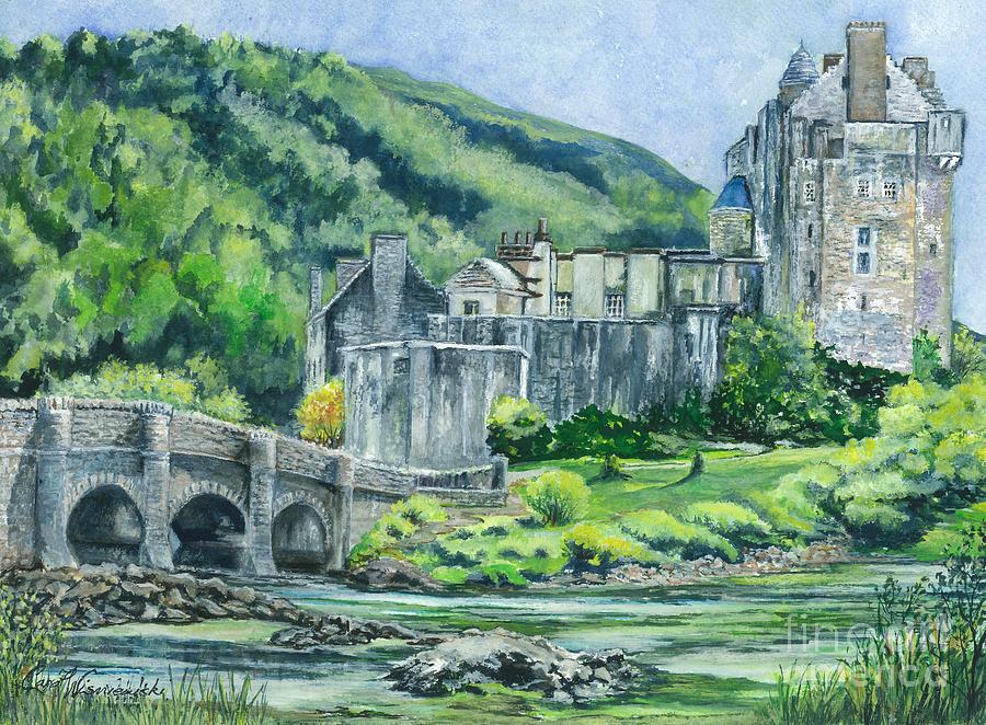 Painting Eilean Donan Medieval Castle Scotland Painting
