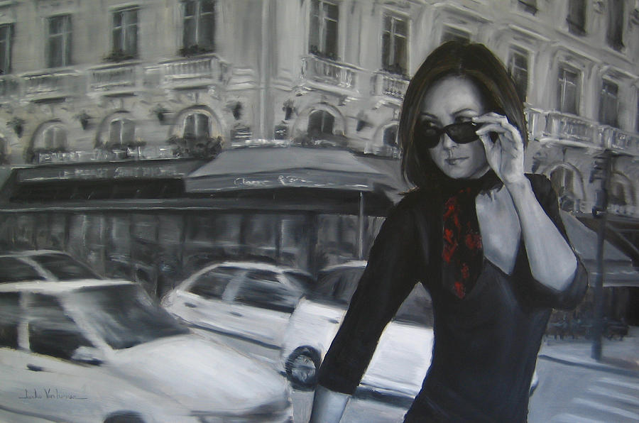 Paris Painting Painting - Painting In Motion by Junko Van Norman