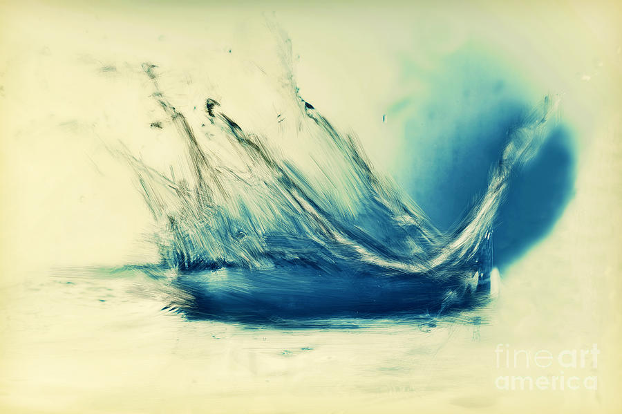 Painting Of Fresh Water Splash Painting  - Painting Of Fresh Water Splash Fine Art Print