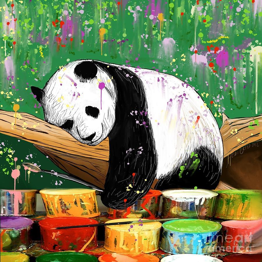 Panda abstract art
