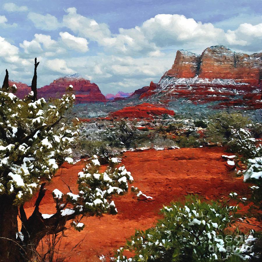 Arizona Red Mountain Sunset Painting