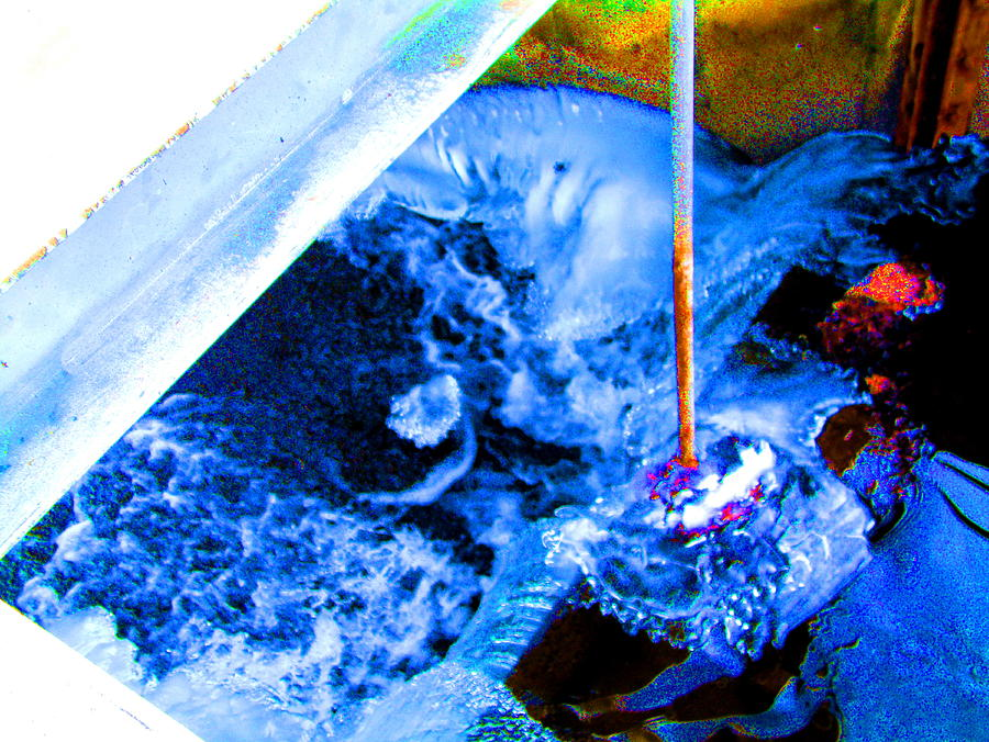 Painting With Water Photograph