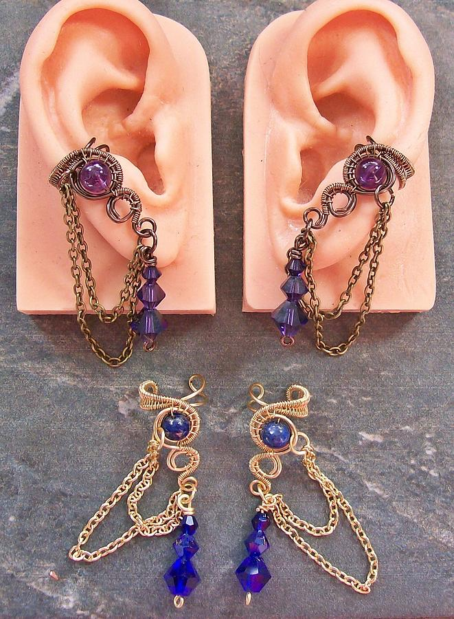 Heather Jordan Jewelry - Pair Of Customizable Woven Ear Cuffs by Heather Jordan