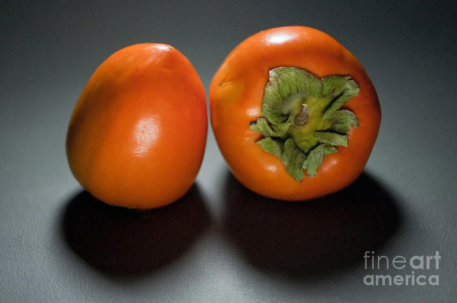 Pair Of Persimmons Photograph