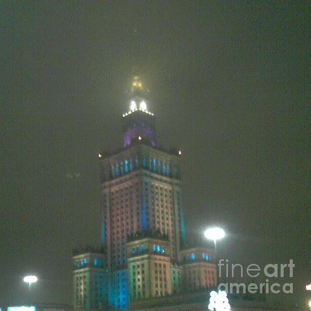 Palace Of Culture And Science In Warsaw Photograph