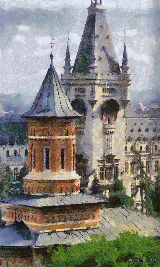 Palace Of Culture Painting  - Palace Of Culture Fine Art Print