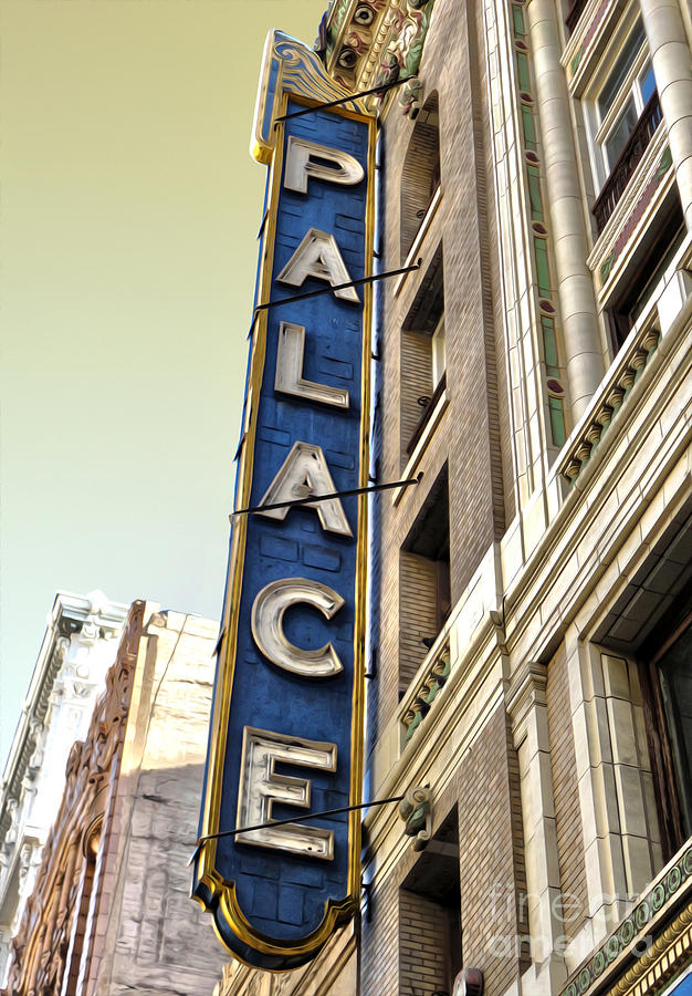 Palace Theater In Downtown Los Angeles Photograph  - Palace Theater In Downtown Los Angeles Fine Art Print