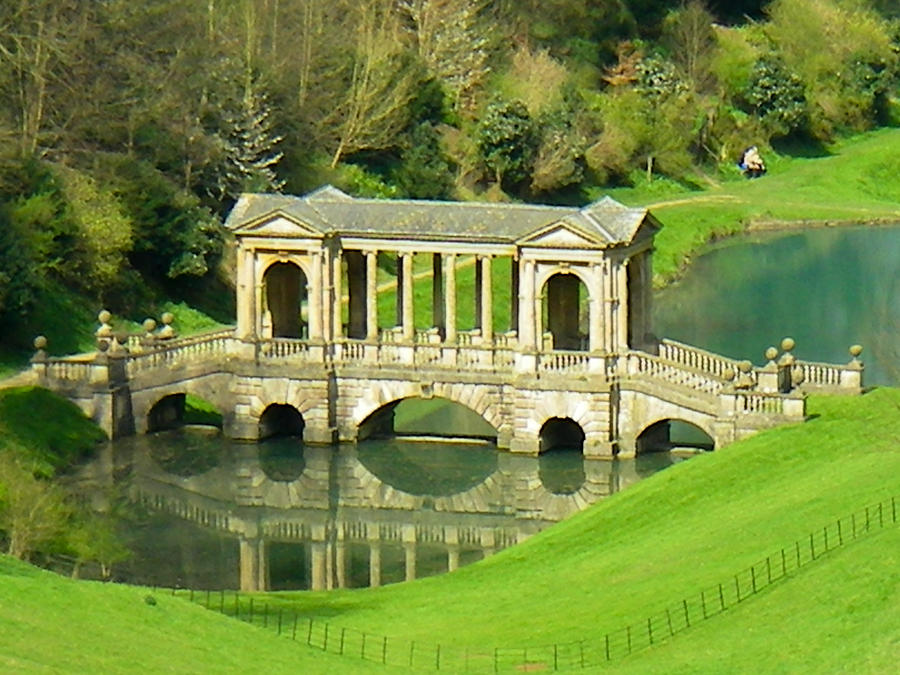 Palladium Bridge And Springtime In Prior Park Widcombe Near Bath Somerset England Photograph  - Palladium Bridge And Springtime In Prior Park Widcombe Near Bath Somerset England Fine Art Print
