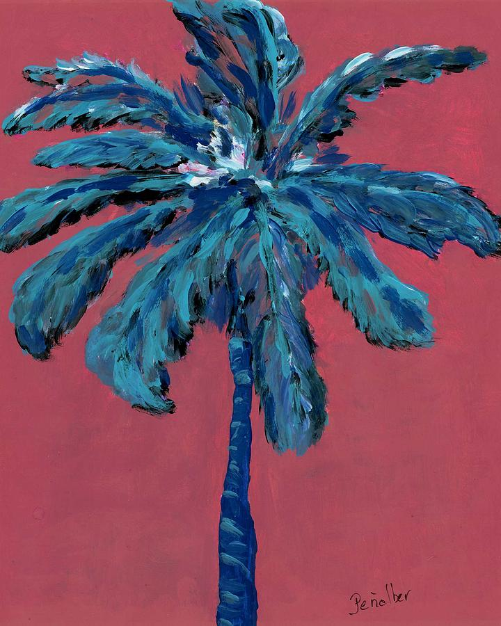 Alm Painting - Palm On Pink  by Oscar Penalber