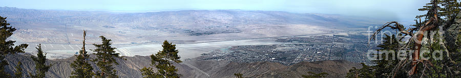 Palm Springs Panoramic View - 01 Photograph  - Palm Springs Panoramic View - 01 Fine Art Print