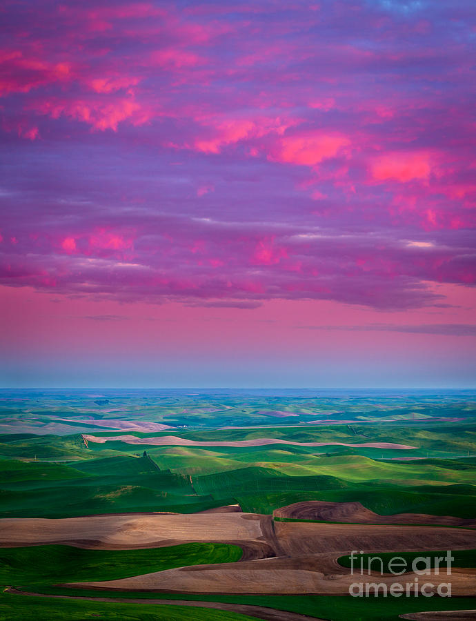 Palouse Fiery Dawn Photograph